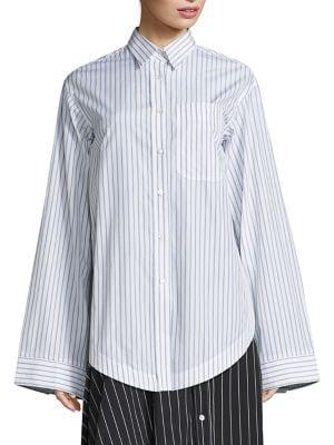 Oversized Striped Shirt by Aquilano Rimondi