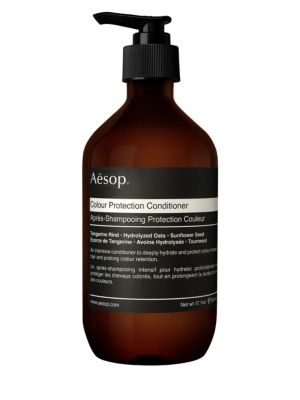 Image of A conditioner to hydrate and protect color-treated hair. This conditioner contains UV-protective Sunflower Seed to prolong color retention and Hydrolyzed Oats to hydrate and soften chemically treated or damaged hair. Ingredients: Water (Aqua), Cetearyl Al