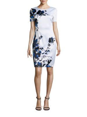 Satin Floral Dress