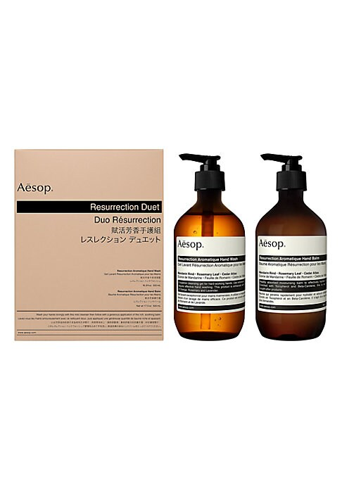 Image of A delightful duo to cleanse and care for the hands. Wash your hands lovingly with this mild cleanser then follow with a generous application of the rich, soothing balm. Each formulation is designed for frequent use to treat labor-wearied hands. Ingredient