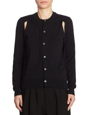 Wool Cutout Cardigan by Comme des Garcons