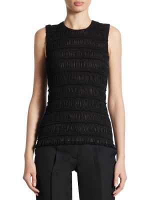 Smocked Ruffle Tank Top by Akris punto