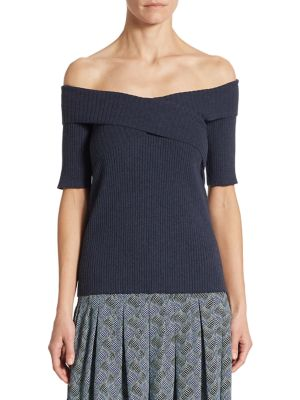 Off-The-Shoulder Knit Top by Akris punto