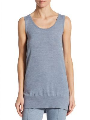 Long Wool Knit Tank by Akris punto