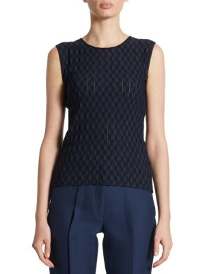 Sleeveless Dot Jacquard Pullover by Akris punto