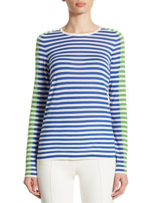 Striped Wool Pullover by Akris punto