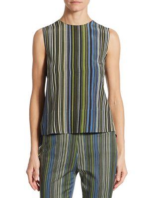 Striped Silk Shell by Akris punto
