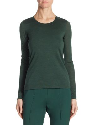 Silk & Cashmere Jersey Pullover by Akris