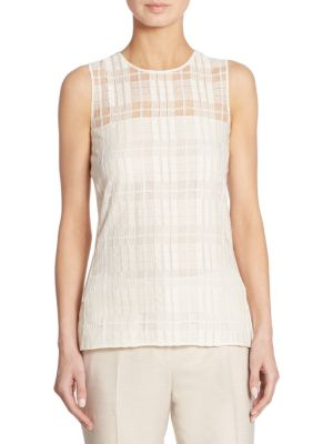 Sleeveless Square Lace Blouse by Akris