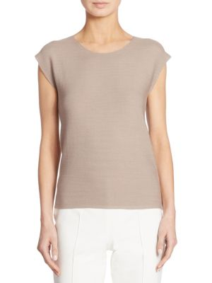 Ribbed Cotton Pullover by Akris