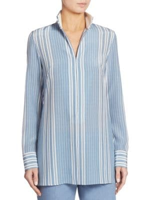 Striped Silk Crepe Tunic by Akris
