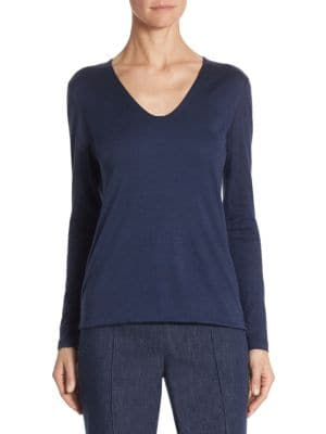 Silk & Cashmere Pullover by Akris