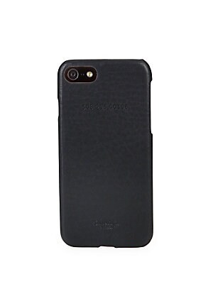 "Image of Beautiful iPhone case crafted from textured leather Fits iPhone 7 3"" W X 6"" H Leather Made in USA. Men Accessories - Watches And Gifts. Shinola. Color: Black."