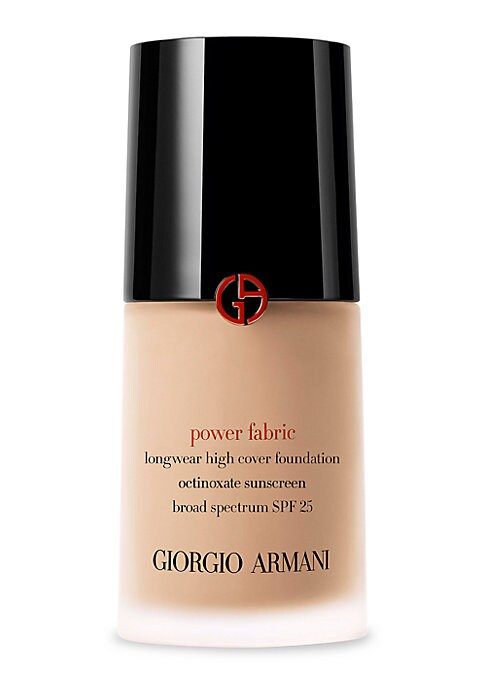 Image of An Allure's 2017 Best of Beauty Winner. What it is: Power Fabric is Armani's first liquid foundation that perfects full coverage with a velvet matte, lightweight second skin finish. What it does: Through Armani Beauty's acclaimed Micro-fil technology, pow