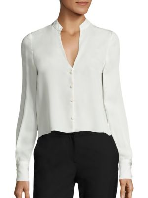 Long Sleeve Silk Blend Shirt by Diane von Furstenberg
