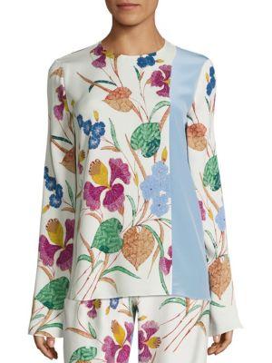 Floral Print Silk-Blend Blouse by Diane von Furstenberg