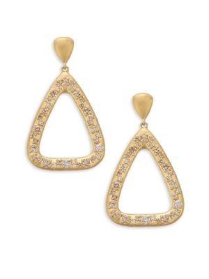 BAVNA 18K Yellow Gold Geometric Diamond Drop Earrings