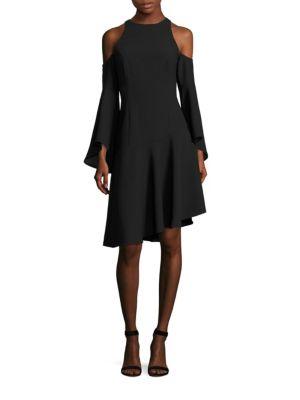 Cold-Shoulder Bell Sleeve Dress