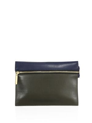 Small Leather Zip Pouch by Victoria Beckham