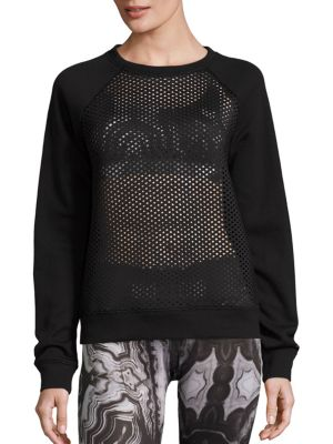 Elemental Mesh Paneled Sweatshirt by Alo Yoga