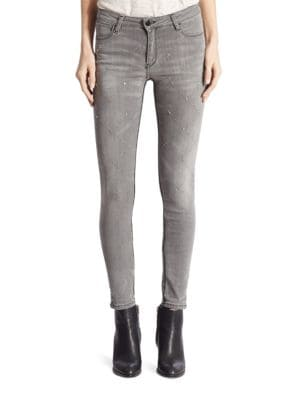 Emma Skinny Al Queen Mary Crystal Embellished Jeans by Brockenbow