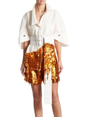 Sequin Embellished Top by Monse