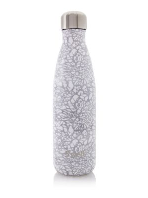S'WELL Monochrome Stainless Steel Water Bottle/17 Oz. in White Lace