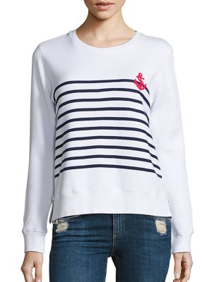Stripes & Anchor Double Zip T-Shirt by SUNDRY