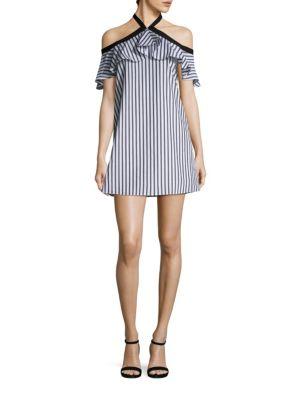 Alexia Off-The-Shoulder Halter Dress