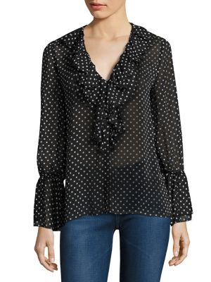 Elliot Ruffle Bell Sleeves Blouse by Alice + Olivia