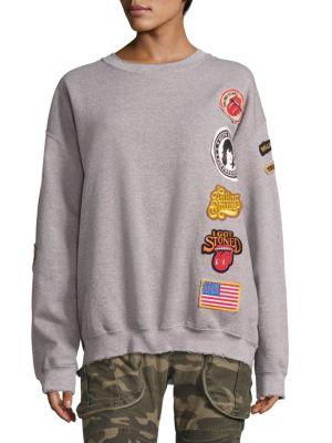 Rolling Stones Patch Sweatshirt by MADEWORN