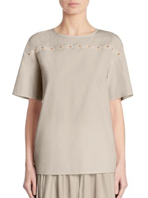 Embellished Cotton Tee by Agnona