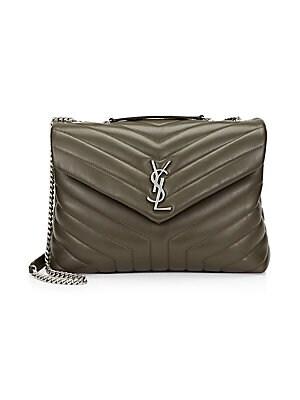 Saint Laurent - Large Monogram Matelasse Leather Chain Shoulder Bag ... feb8cdcec1