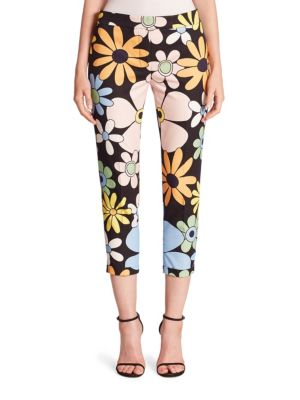 Floral Printed Pants by Thom Browne