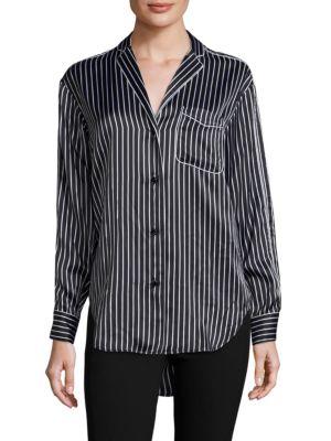 Hahn Pinstripe Silk Pajama Shirt by Rag & Bone