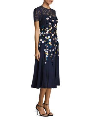3D Floral Detailed Dress