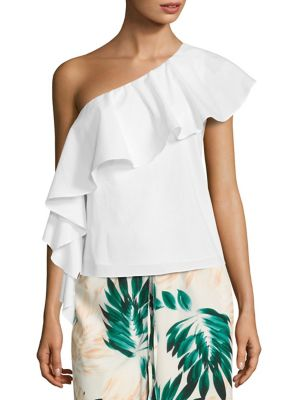 One-Shoulder Ruffled Top by Scripted