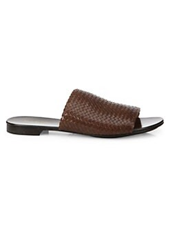 92ee3a2da4006e Byrne Woven Leather Slides NUTMEG. QUICK VIEW. Product image. QUICK VIEW. Michael  Kors Collection