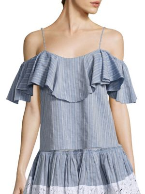 Marina Ruffled T-Shirt by MISA Los Angeles