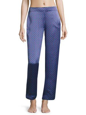 Patterned Silk Pajama Shorts by Asceno