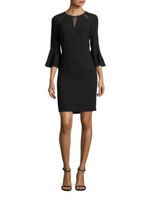 Garcia Bell Sleeve Embellished Sheath Dress