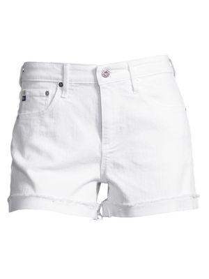foto de AG Jeans - Hailey Mid-Rise Slouchy Cuffed Denim Shorts - saks.com