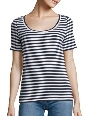 Breton Striped Cotton Tee by AG