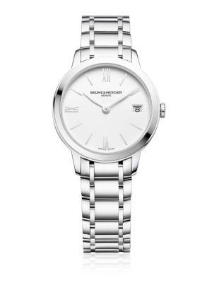 BAUME & MERCIER Classima 10335 Stainless Steel Bracelet Watch in Silver