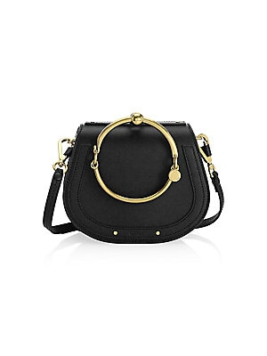 9aff1f8696 Chloé - Small Nile Leather & Suede Bracelet Bag