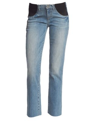 PAIGE MATERNITY Miki Straight Leg Maternity Jeans in Big Sur