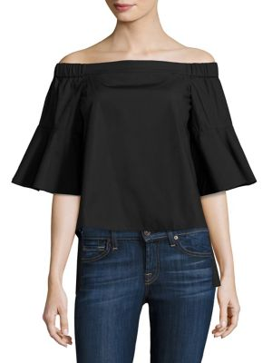 Shane Off-The-Shoulder Hi-Lo Bell Sleeves Top by Prose & Poetry