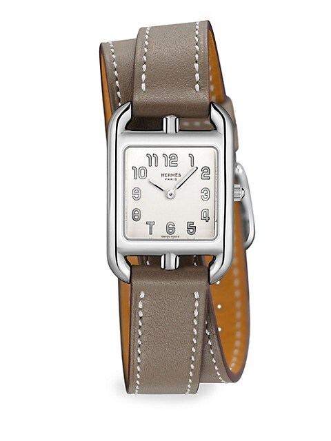 Cape Cod 23MM Stainless Steel & Leather Double-Wrap Strap Watch