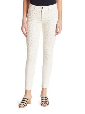 Reina Studded Skinny Jeans by Brockenbow