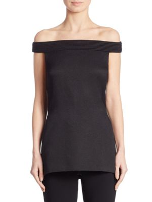 Piped Off-The-Shoulder Tunic by Brandon Maxwell